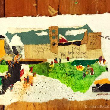 Collage series 2: Schoolyard