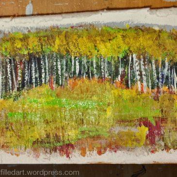 Poplars on paper