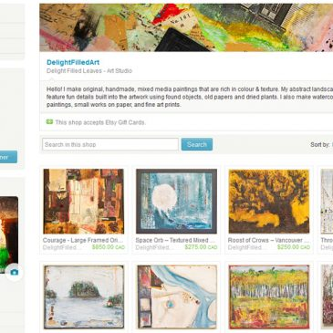 Etsy Shop and Facebook Artist Page now live