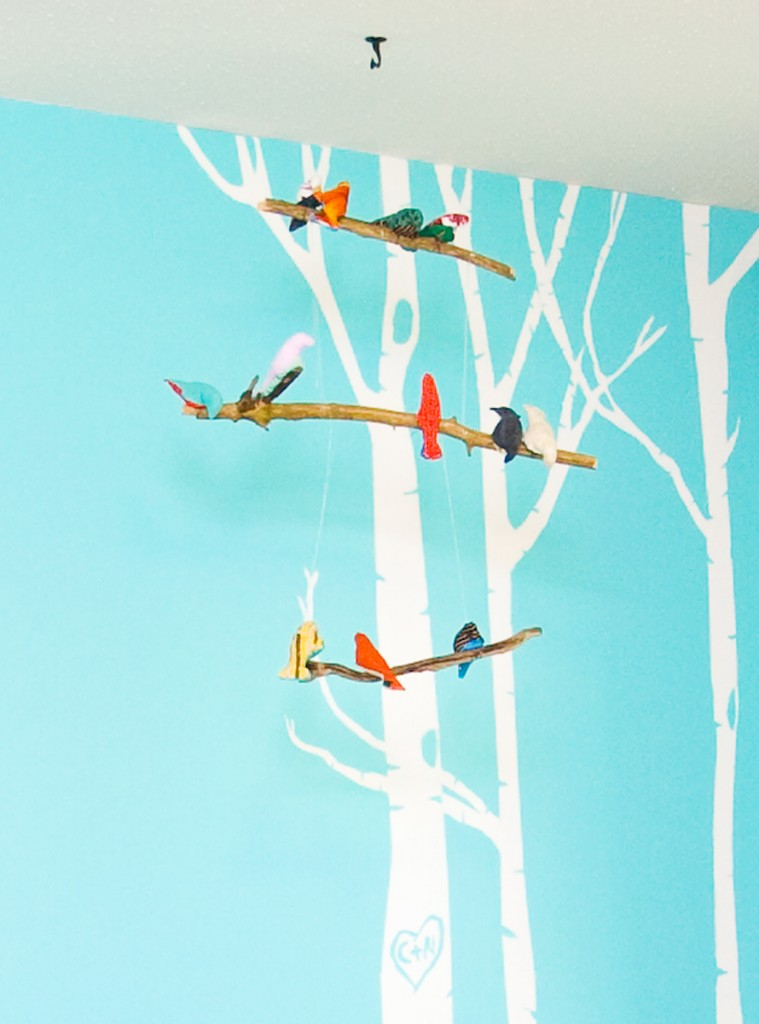 WOODLAND NURSERY BIRD MOBILE